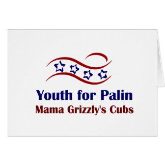 Juventud para los productos de Palin Tarjeton