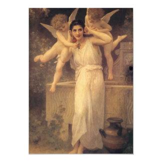 Juventud por Bouguereau, ángeles del vintage, arte Invitación 12,7 X 17,8 Cm