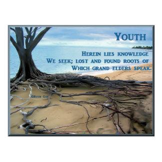 Juventud y ancianos postales