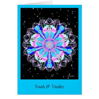 Juventud y vitalidad tarjeta de felicitación