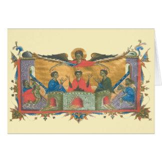 Juventudes retras del armenio tres en tarjeta