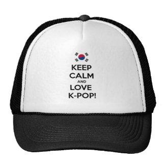 ¡K-Estallido del amor! Gorras De Camionero