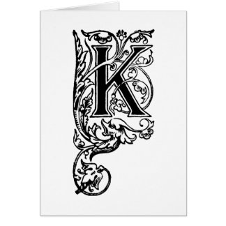 K la letra decorativa tarjetón