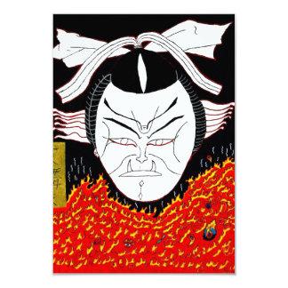 Kabuki lunes invitación 8,9 x 12,7 cm