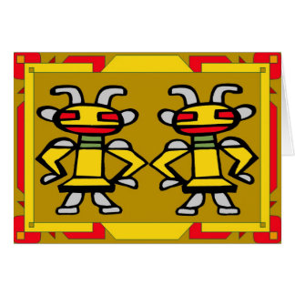 Kachina gemelo tarjeton