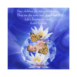 Kahlil Gibran en niños y bebés Impresion En Lona