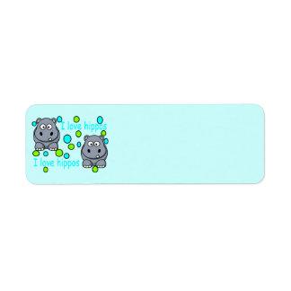 kaili-s-impresionante-hipopótamo-hola etiqueta de remite