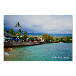 Kailua Kona, Hawaii • Arte de Digitaces de la