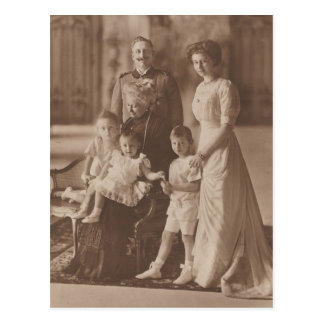 KAISER Wilhelm Ii y hija y nietos #041D Postal