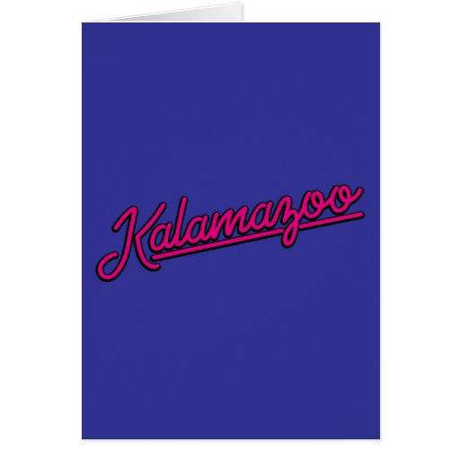 Kalamazoo en magenta tarjetas