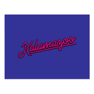 Kalamazoo en magenta postal