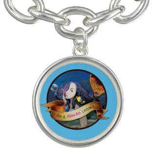 Kali el pulsera con dije redondo de la sirena