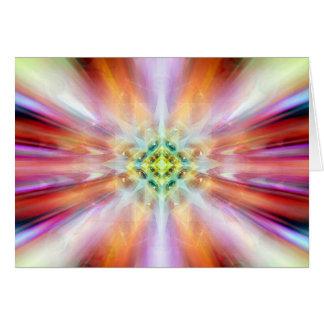 kaliedoscope etéreo cósmico de la observación tarjeta de felicitación
