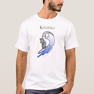 Kalypso Kane que practica surf en azul Camiseta