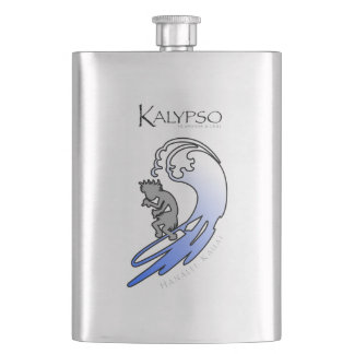 Kalypso Kane que practica surf en azul Petaca