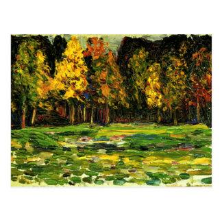 Kandinsky - borde del bosque postal