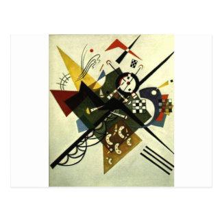 Kandinsky en el blanco II Postal