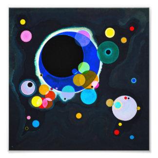 Kandinsky impresión de varios círculos cojinete