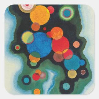 Kandinsky profundizó el aceite abstracto del pegatina cuadrada