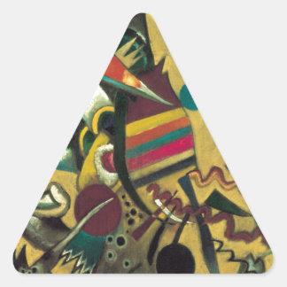 Kandinsky señala la pintura abstracta de la lona pegatina triangular
