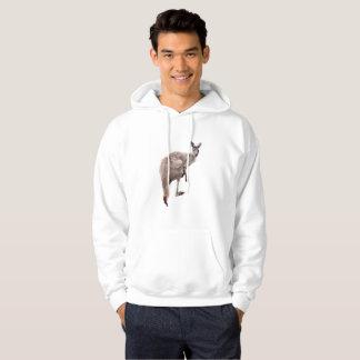Kangaroo_Lookout, _Men's_White_Hoodie Sudadera