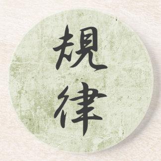 Kanji japonés para la disciplina - Kiritsu Portavasos