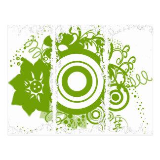 Kanji para el círculo de la flor del valor postal