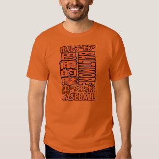Kanji T-sirts del equipo de béisbol de Baltimore Camisas
