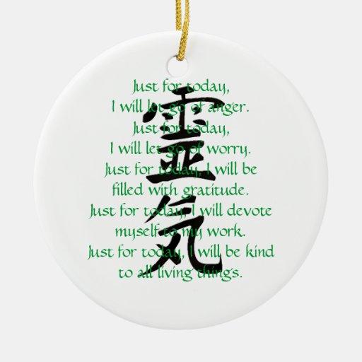 Kanji y preceptos de Reiki con Usui Ornamentos De Reyes Magos