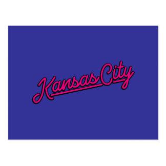Kansas City en magenta Postal