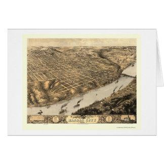 Kansas City, mapa panorámico del MES - 1869 Tarjeta De Felicitación