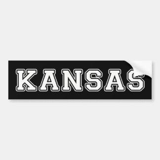 Kansas Pegatina Para Coche