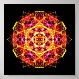Kapha Dosha que equilibra la mandala de Ayurveda Póster