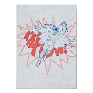 ¡KAPOW! Gráfico de Batman Invitación 12,7 X 17,8 Cm