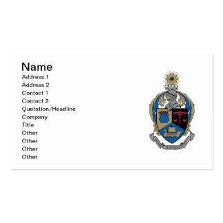 Kappa alfa PSI - escudo de armas Tarjetas De Visita