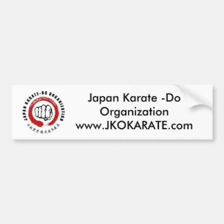 Karate de Japón - haga Pegatina Para Coche