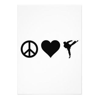 Karate del amor de la paz invitaciones personales