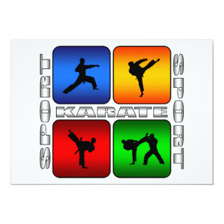 Karate espectacular invitación 12,7 x 17,8 cm
