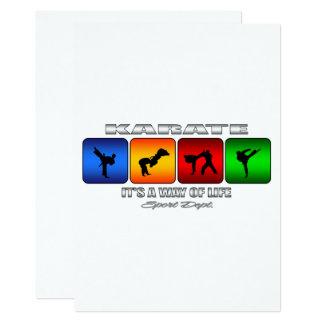 Karate fresco es una manera de vida invitación 12,7 x 17,8 cm