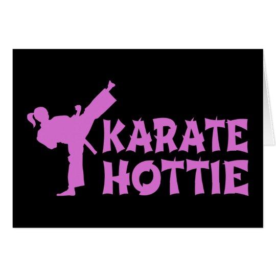Karate Hottie - rosa marcial femenino del artista Tarjeta De Felicitación