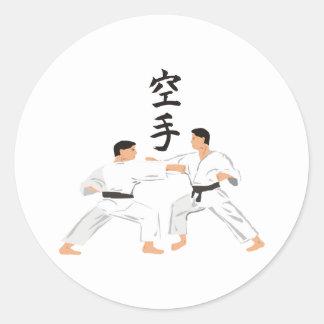 Karate Pegatina Redonda
