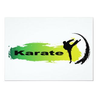 Karate único invitación 12,7 x 17,8 cm