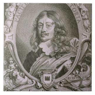 Karl Gustavo Wrangel (1603-73) del 'DES de los ret Azulejo Cuadrado Grande