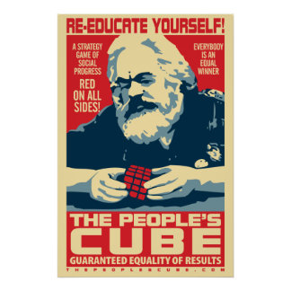 Karl Marx - el cubo de la gente: Poster de OHP