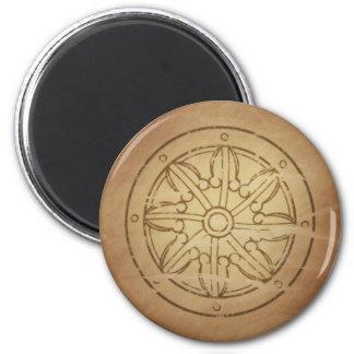 Karmas la rueda del budista de la ley imán redondo 5 cm