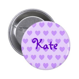 Kate en púrpura chapa redonda de 5 cm
