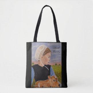 Kathryn en la bolsa de asas temática de Amish del