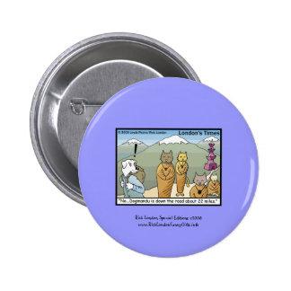 Katmandu y botón de la lona del dibujo animado de  pin
