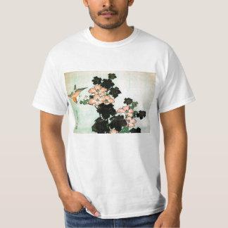 Katsushika Hokusai (葛飾北斎) - hibisco y gorrión Camiseta
