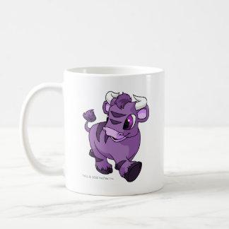 Kau púrpuras taza básica blanca
